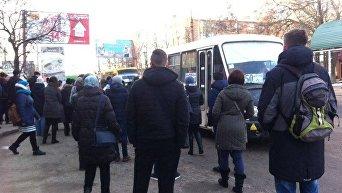 Забастовка маршрутчиков в Николаеве
