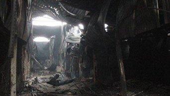Сгоревший кинозал в ТЦ Зимняя вишня