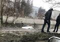 В Одессе автомобиль полиции упал с моста