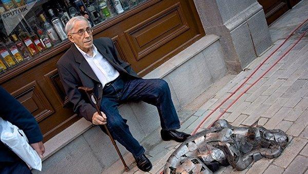 Пожилой мужчина в Грузии