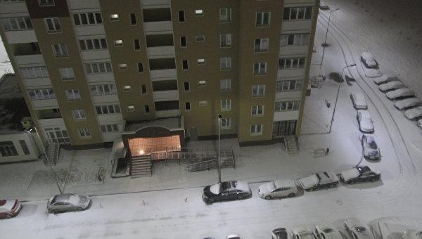 В Киеве выпал обильный снег в ночь на 29 марта