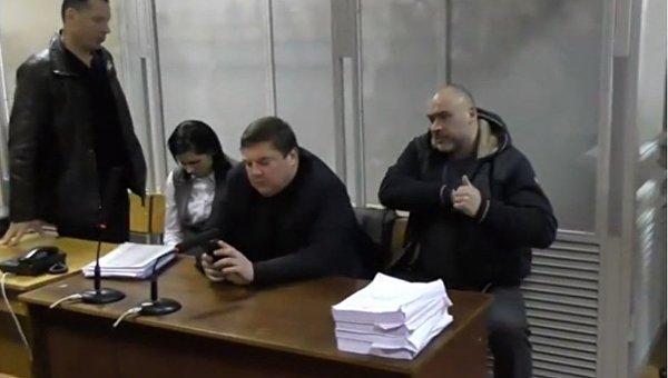 Судебное заседание по избранию меры пресечения Юрию Крысину
