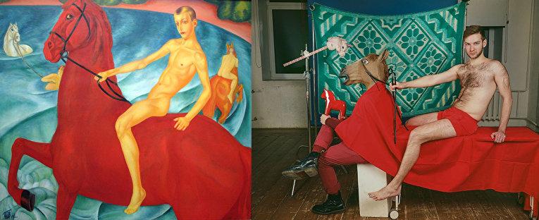 «Купание красного коня», Кузьма Петров-Водкин
