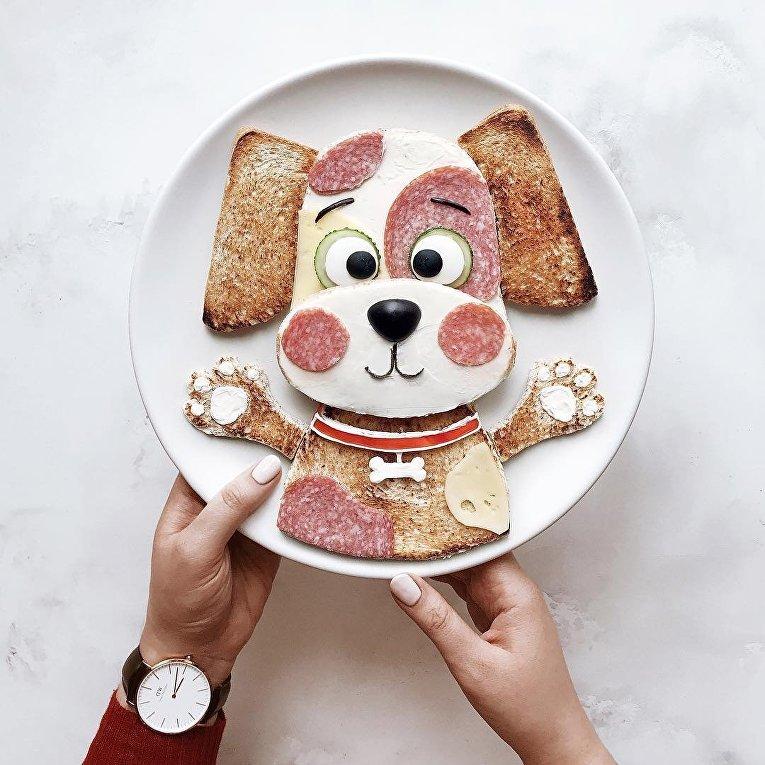 Картина из еды
