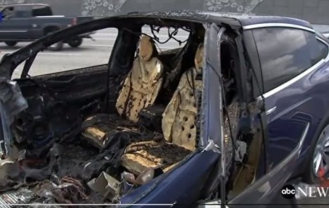 The Tesla engine during California's fatal road accident was in