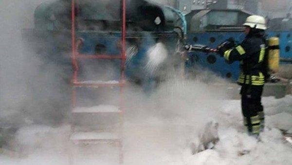 Пожар на Бортнической станции аэрации