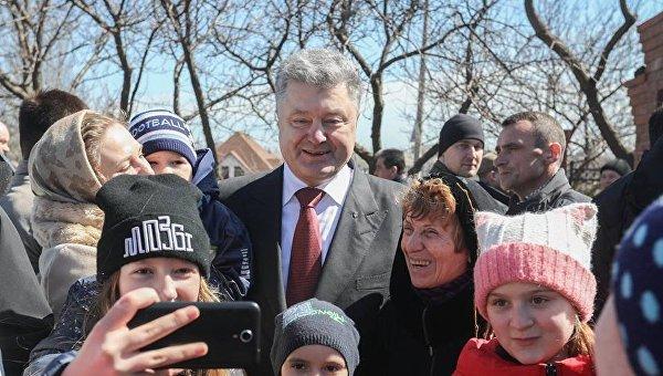 Петр Порошенко в Мариуполе, 1 апреля 2018