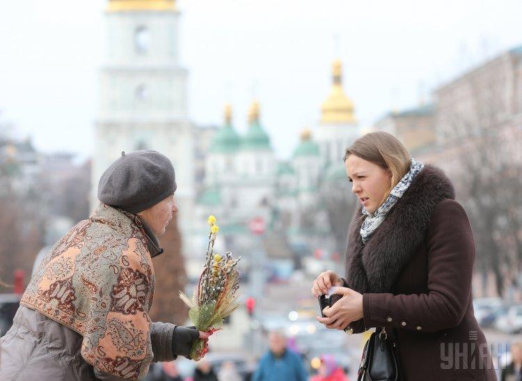 Вербное воскресенье в Киеве
