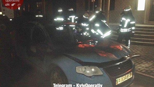 В Киеве взорвался автомобиль
