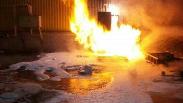 Пожар в супермаркете Варус в Запорожье
