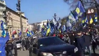 Марш националистов по центру Киева