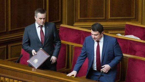 Артем Сытник и Назар Холодницкий пришли на заседание Верховной Рады