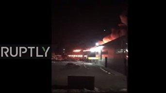 Пожар в магазине детских игрушек в Тюмени. Видео
