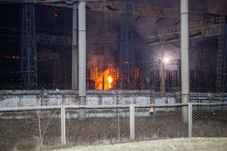 Пожар на Приднепровской ТЭС
