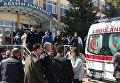 На месте стрельбы в университете Османгази в Эскишехире на западе Турции