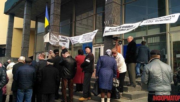 Чернобыльцы объявили о голодовке под зданием Минсоцполитики в Киеве
