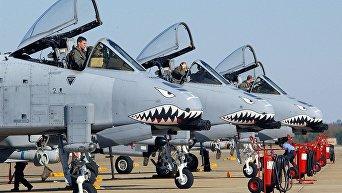 Штурмовики ВВС США A-10 Thunderbolt II. Архивное фото