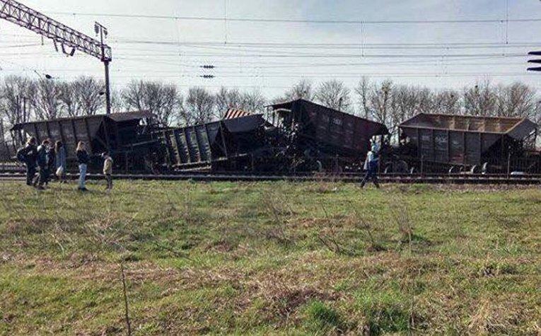 Авария грузового состава во Львовской области