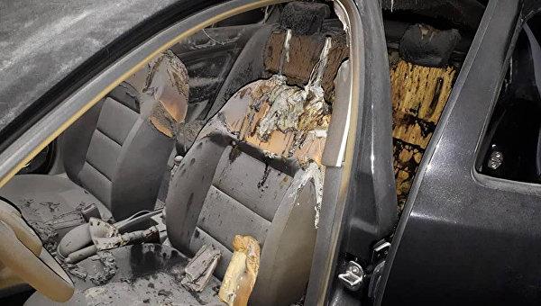 Авто депутата сожгли в Полтавской области