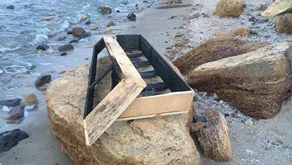Накануне праздника на одесском пляже нашли обгоревший гроб