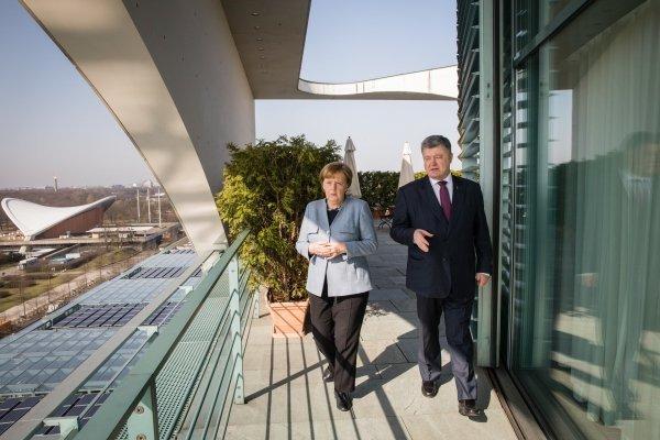 Встреча Петра Порошенко и Ангелы Меркель в Берлине