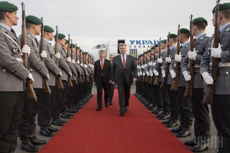 Визит Петра Порошенко в Берлин