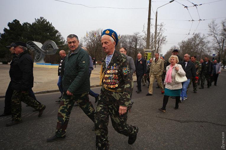 Одесские ветераны-афганцы прошлись колонной по городу