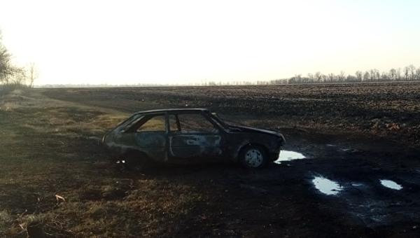 В Харьковской области сгорел автомобиль