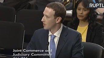 Выступление Марка Цукерберга в комитете сената США. Видео
