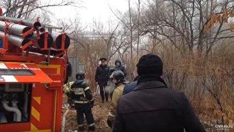 Появилось видео с места крушения вертолета в России