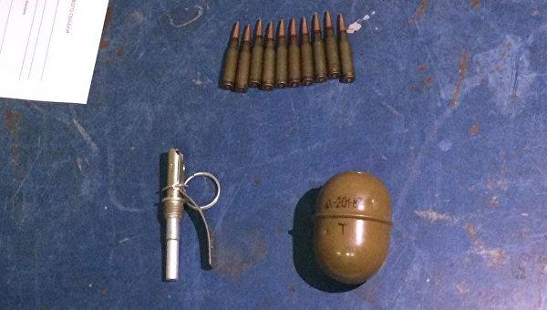 На харьковском вокзале задержали мужчину с гранатой и патронами