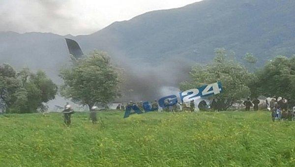 Военный самолет Ил-76 разбился в Алжире