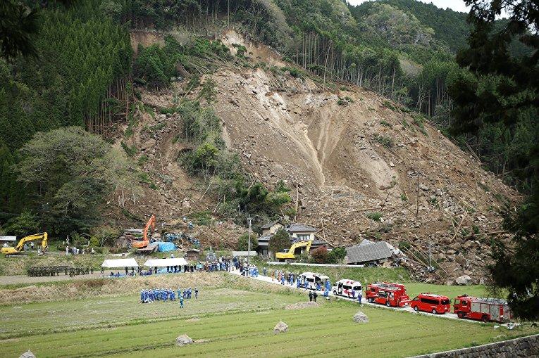 Оползень на юго-западе Японии