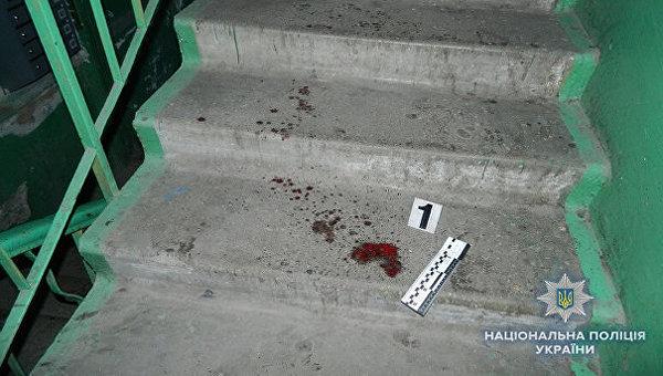 На месте инцидента в киевском подъезде