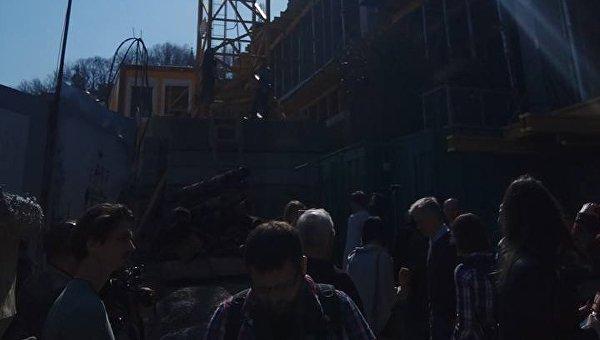 На месте скандальной застройки в историческом центре Киева