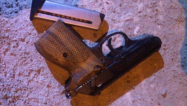 Пистолет, из которого стреляли ночью во Львове, 11 апреля 2018