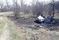 На месте подрыва авто в Луганской области
