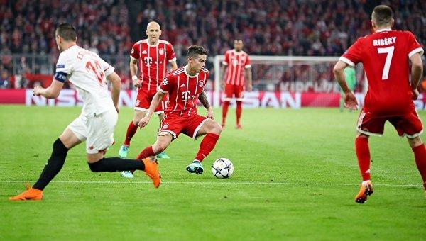 Матч 1/4 финала Лиги чемпионов Бавария - Севилья