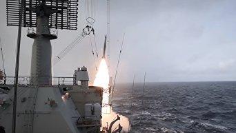 Российский ракетный крейсер показал свой потенциал недалеко от скандинавских стран. Видео