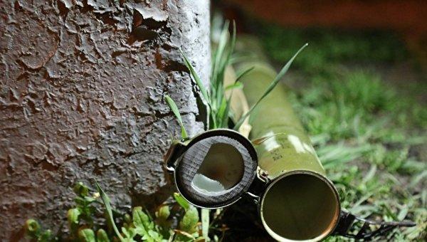 Тубус от гранатомета в центре Киева