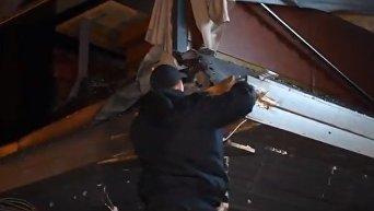 Обстрел здания Киевгорстроя. Видео