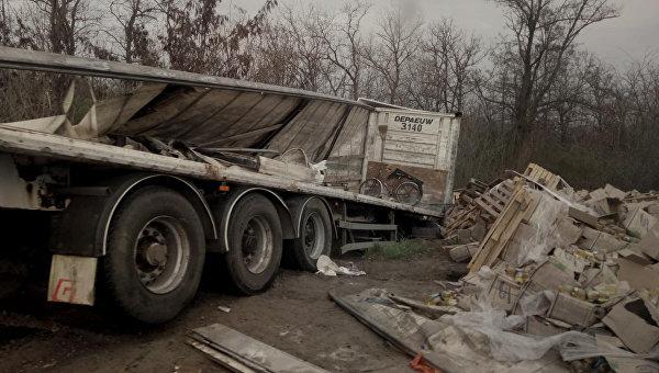 Авария фуры с подсолнечным маслом в Запорожской области