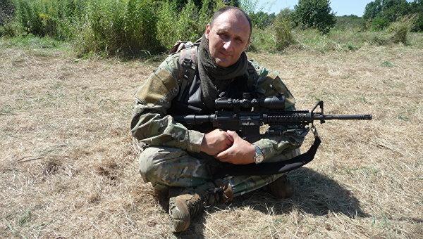 Экс-заместитель начальника Управления Альфа СБУ, подполковник Андрей Дубовик,  участник первого боя АТО под Славянском