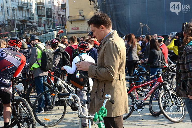 Традиционный флешмоб На велосипеде на работу