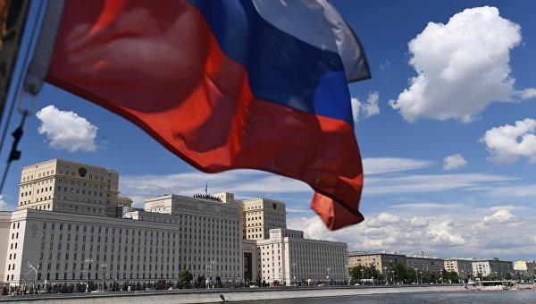 Здание министерства обороны РФ на Фрунзенской набережной в Москве.