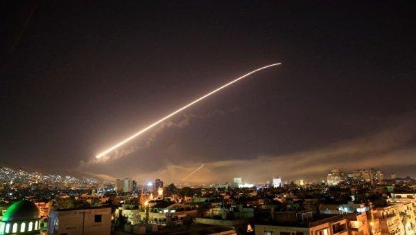Ракетный удар США и союзников по Сирии. Небо над Дамаском