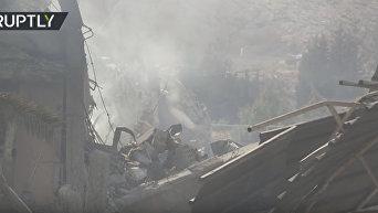 Последствия ракетных ударов по Сирии