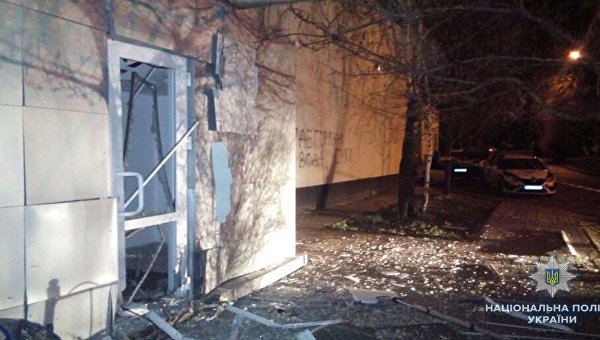Взрыв возле здания Киевэнерго в Святошинском районе столицы, 15 апреля 2018