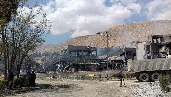 Последствия ракетного удара по Сирии