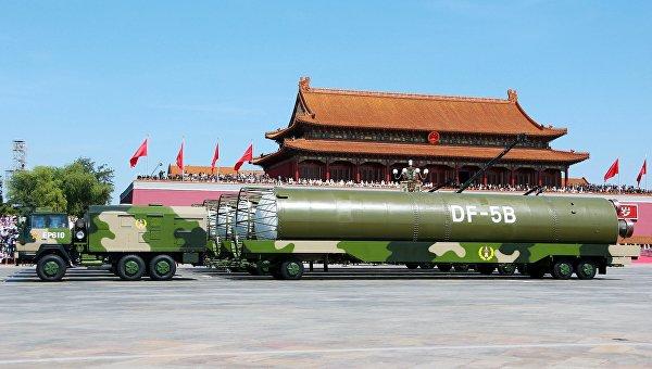 Баллистическая ракета Dongfeng 5B (DF-5B) Народно-освободительной армии Китая. Архивное фото